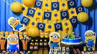 getlinkyoutube.com-Decoração de Aniversário Festa dos Minions