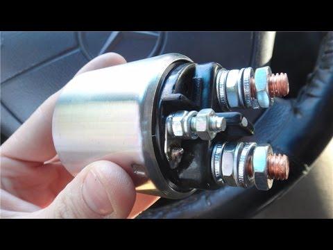 Ремонт втягивающего реле стартера Bosch