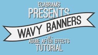 getlinkyoutube.com-Wavy Flowing Banners - Adobe After Effects tutorial