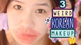 getlinkyoutube.com-TRY ON WEIRD KOREAN MAKEUP PRODUCTS | CREAM CHEESE MOISTURIZER?!