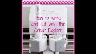 getlinkyoutube.com-Cricut Explore - How to Write and Cut!