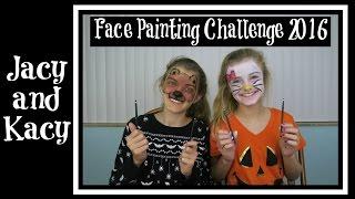 getlinkyoutube.com-Face Painting Challenge ~ 2016 ~ Jacy and Kacy