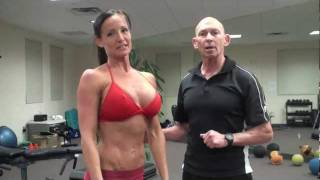 getlinkyoutube.com-Bikini model chest workout