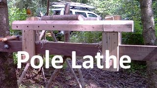 getlinkyoutube.com-Pole Lathe Outdoor Workshop