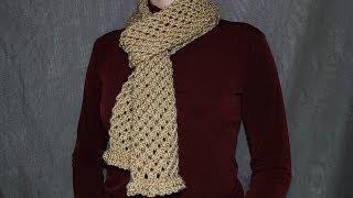 getlinkyoutube.com-Как cвязать шарф спицами - урок вязания для начинающих.