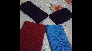 getlinkyoutube.com-Cómo tejer con gancho (crochet) una funda para celular.