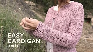 getlinkyoutube.com-Tutorial Easy Cardigan Crochet in English