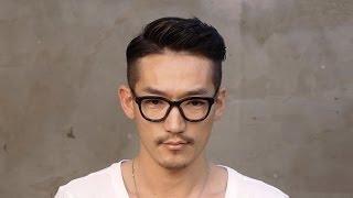 getlinkyoutube.com-Korean beauty : 남자 포마드 리젠트컷 -  Men's hair , Classic style, style a pompadour