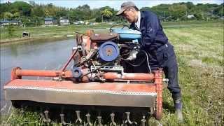 getlinkyoutube.com-農機改造 エンジン搭載ロータリーモア