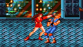 Bare Knuckle AKA Streets of Rage (1991) Blaze Playthrough, BOTH Endings! / Mega Drive / Genesis