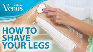 getlinkyoutube.com-How to Shave Your Legs With Gillette Venus | Shaving Tips