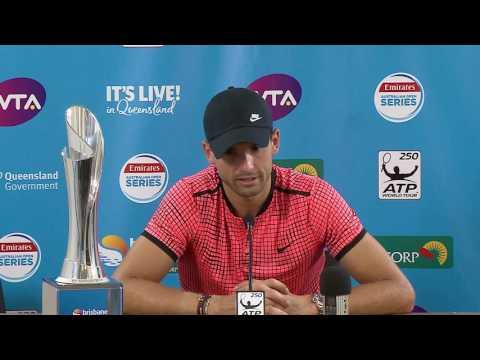 Grigor Dimitrov Press Conference (Final) | Brisbane International 2017