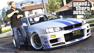 GTA 5 - PAUL WALKER MOD + INSANE DRIFT NISSAN R34 GTR