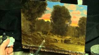 getlinkyoutube.com-Painting in oils : how to art instruction in classical tonalist manner with art entertainment & fun