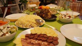 getlinkyoutube.com-Праздничный стол/ Готовлю закуски, салатики и горячее/ сервировка стола