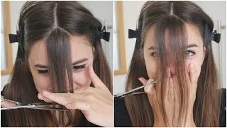 getlinkyoutube.com-Cutting My Bangs | OMG