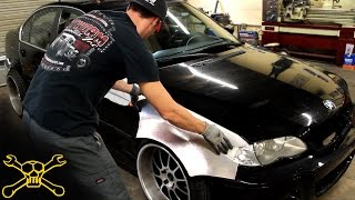 getlinkyoutube.com-Handmade Aluminum Widebody BMW E46 | Inside Cutworm Specialties