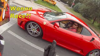 getlinkyoutube.com-FERRARI PLAYS WITH MOTORCYCLE