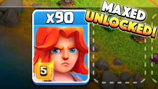 getlinkyoutube.com-90 VALKS IN! - Clash of Clans - Finally Unlocking Maxed Valkyries!