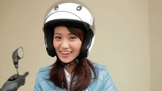 getlinkyoutube.com-大島優子、バイクで公道デビュー 『トリシティ、納車!』篇