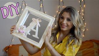 getlinkyoutube.com-DIY: Como fazer porta maternidade   Quadro decorado