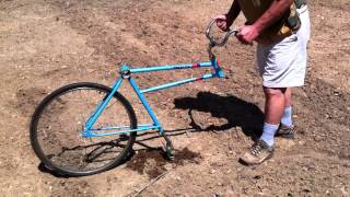 getlinkyoutube.com-Bicycle Garden Plow home made