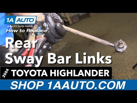 How to Replace Rear Sway Bar Links 00-07 Toyota Highlander