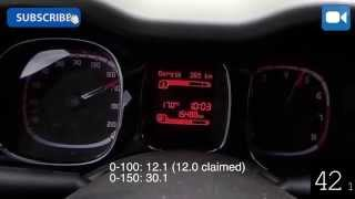 2014 Fiat Panda 4x4 TwinAir Turbo 85 0-170 km/h Acceleration