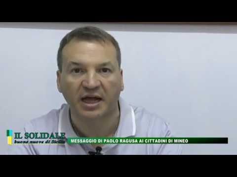Video: Messaggio di Paolo Ragusa ai cittadini di Mineo