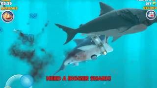 getlinkyoutube.com-Pushing an enemy megalodon out of the water and eat it