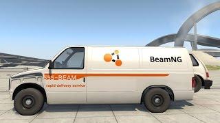 getlinkyoutube.com-BeamNG Drive - Van Transporting a Hatchback