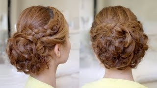 getlinkyoutube.com-Hair Tutorial: Bridal Curly Updo with Braids