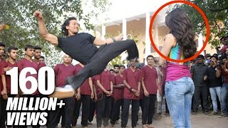 getlinkyoutube.com-Tiger Shroff's Amazing Stunt With Shraddha Kapoor For Baaghi Promotions