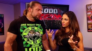 DX interrupts a yoga session between Trish Stratus and Triple H: Raw, July 23, 2012