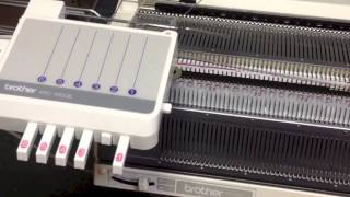 getlinkyoutube.com-Automatic knitting system based on the Brother KH-970