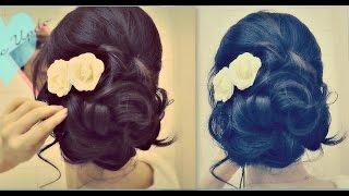 getlinkyoutube.com-★ Easy Wedding Updo with Curls   Prom Hairstyles Hair Tutorial