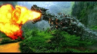 getlinkyoutube.com-Transformers 4 - All Dinobot Scenes IMAX HD
