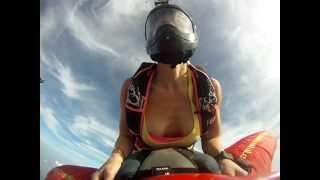 getlinkyoutube.com-Hot Girl + Skydive Wingsuit Rodeo + Cleavage = AWESOME