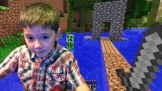 6 Year Old Jacob Playing Minecraft