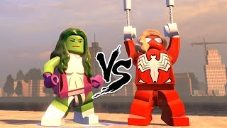 getlinkyoutube.com-SPIDER GIRL VS SHE HULK - EPIC BATTLE (LEGO MARVEL AVENGERS)