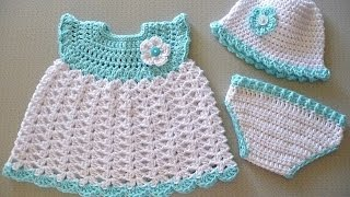 getlinkyoutube.com-CROCHET BABY DRESSES PATTERNS