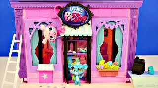 getlinkyoutube.com-Littlest Pet Shop 135 Piece Style Set Custom Design Exclusive Minka Sunil Kitery Toys LPS Pets
