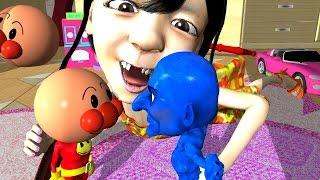 getlinkyoutube.com-[アンパンマンおもちゃアニメ]アンパンマンおもちゃx青鬼おもちゃ ( Anpanman Toy Anime Parody )