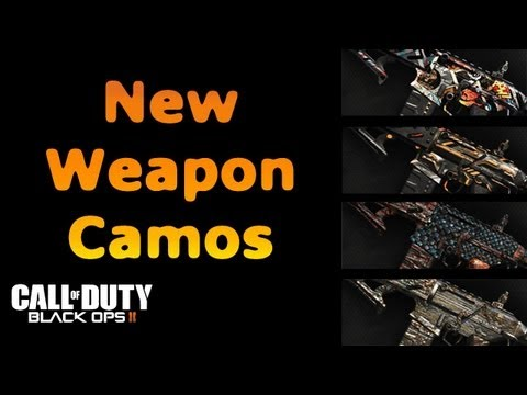 New Camos for Black Ops 2! Comic Book, Dragon, Cyborg, Paladin!