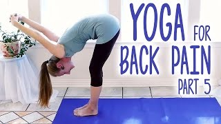 Yoga for Back Pain, Home Beginners 10 Minute Stretches for Neck & Upper Back, Part 5