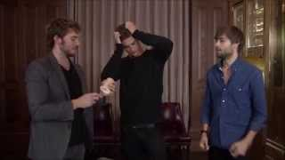 getlinkyoutube.com-The Riot Club: Beer Pong with Sam Claflin, Max Irons, and Douglas Booth