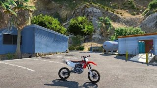 getlinkyoutube.com-Grand Theft Auto 5 - Honda CRF450 Dirtbike Mod! GTA 5