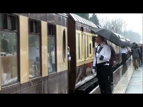 The Bluebell Railway arrives at East Grinstead - 23 March 2013