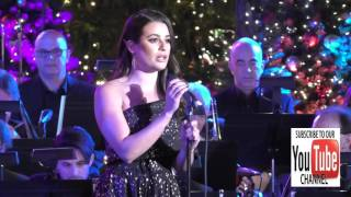 getlinkyoutube.com-Lea Michele at the Grove Christmas With Seth MacFarlane at The Grove in Hollywood