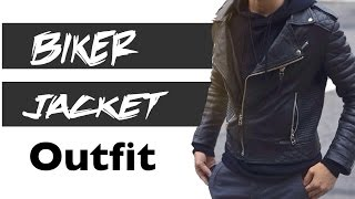 getlinkyoutube.com-Biker Jacket Outfit Man | JR Style For Men